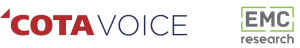 COTAVoice Logo and EMC Research Logo